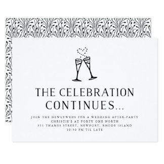 after wedding party invitations announcements zazzle