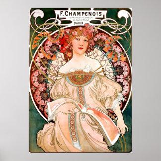 Champagne Printer Poster