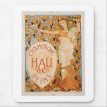 Champagne Reims Vintage Wine Drink Ad Art Mouse Pad
