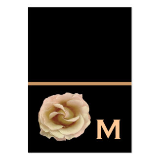 Champagne Rose Wedding Gift Tags or Fold a Note Large Business Card