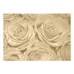 Champagne Roses Formal Wedding RSVP Card Invitations