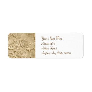 Champagne Roses Return Address Label