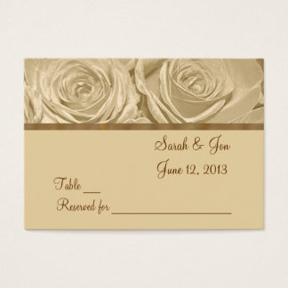 Champagne Roses Wedding Table Place Card