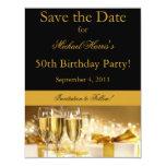 """Champagne Save the Date Invitation 4.25"""" X 5.5"""" Invitation Card"""