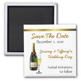 Champagne Save the Date Magnet magnet