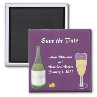 Champagne Save the Date Magnet