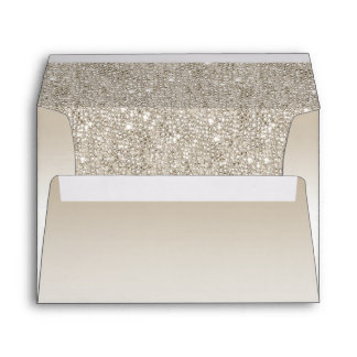 Champagne Sequins Envelope