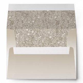 Champagne Sequins Envelope