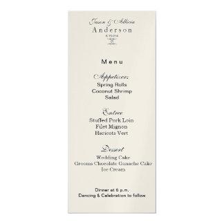 Champagne Shimmer Menu Card for Weddings & Galas