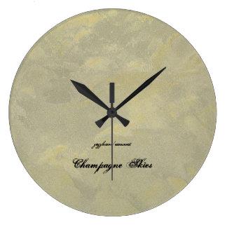 Champagne Skies Wall Clocks