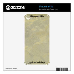 Champagne Skies Decals For iPhone 4