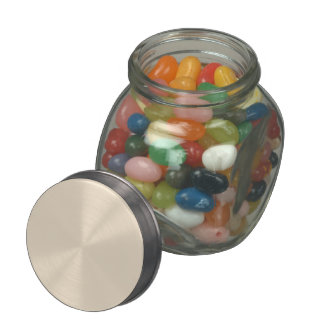 Champagne Solid Color Glass Jar