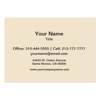 Champagne Solid Color Large Business Cards (Pack Of 100)