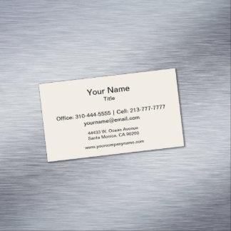 Champagne Solid Color Magnetic Business Card
