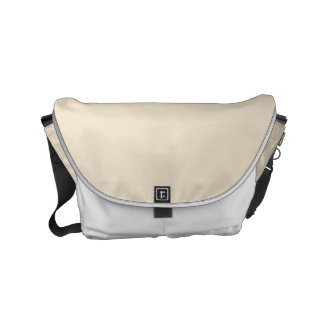 Champagne Solid Color Small Messenger Bag