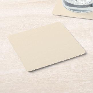 Champagne Solid Color Square Paper Coaster