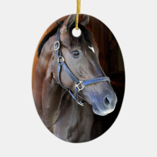 "Champagne Stakes Winner ""Daredevil"" Ceramic Ornament"