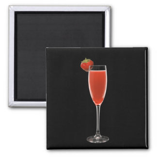 Champagne Strawberry Magnet