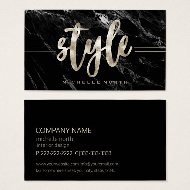 Champagne Style Black Marble ID354