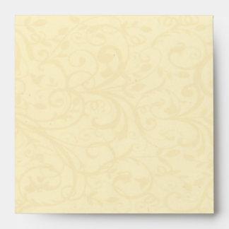 Champagne Swirl Envelope (Square)