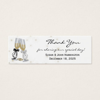 Champagne Thank You Mini Business Card