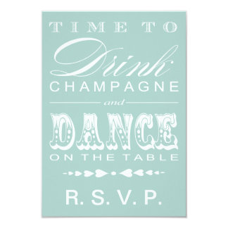 Champagne Theater Bill RSVP Card