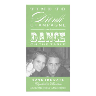 Champagne Theater Bill SAVE THE DATE Photo Card