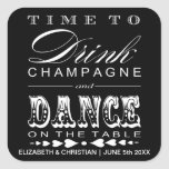 Champagne Theater Bill Wedding Favor Sticker