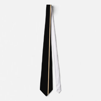 Champagne Thin Vertical Line on Black Offset Right Tie