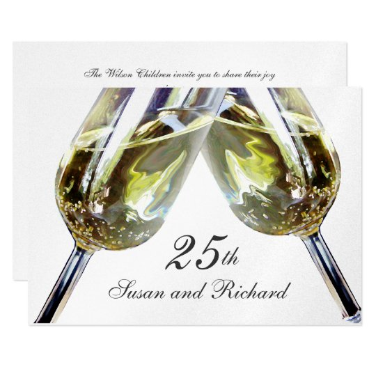 Champagne Toast/ 25th Anniversary Card