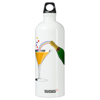 Champagne Toast Aluminum Water Bottle