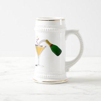 Champagne Toast Beer Stein