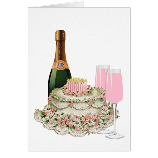 Champagne Toast Birthday Card