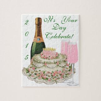 Champagne Toast Birthday Jigsaw Puzzle