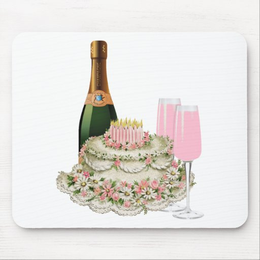 Champagne Toast Birthday Mouse Pad