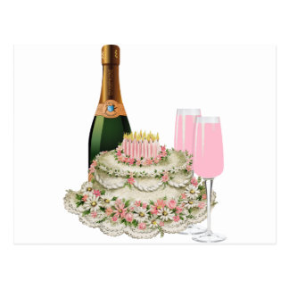 Champagne Toast Birthday Postcard