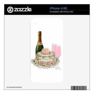 Champagne Toast Birthday iPhone 4S Skins