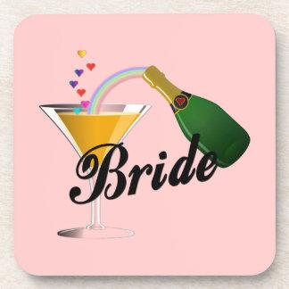 Champagne Toast Bride Beverage Coaster