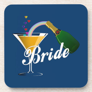 Champagne Toast Bride Beverage Coaster