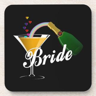 Champagne Toast Bride Coaster