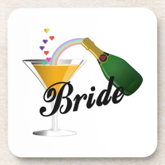 Champagne Toast Bride Drink Coaster