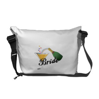 Champagne Toast Bride Messenger Bag
