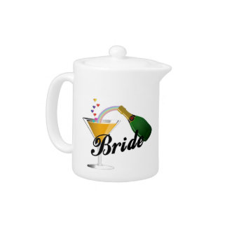 Champagne Toast Bride Teapot