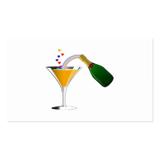 Champagne Toast Business Card Templates