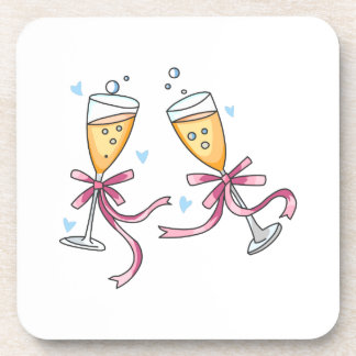 CHAMPAGNE TOAST BEVERAGE COASTER