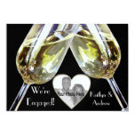 """Champagne Toast/ Engagement Announcement 5"""" X 7"""" Invitation Card"""