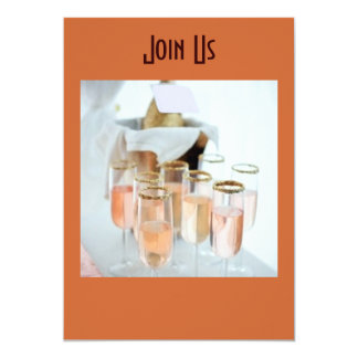CHAMPAGNE TOAST FOR PARTY OF THE YEAR INVITATION