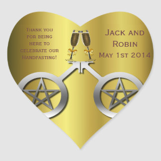 Champagne Toast Gay Handfasting Thank You Heart Heart Sticker