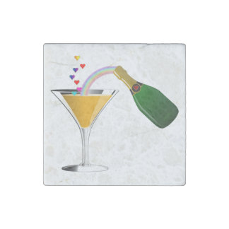 Champagne Toast Stone Magnet