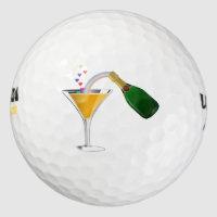 Champagne Toast Golf Balls